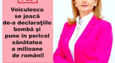 Voiculescu se joacă de-a declaraţiile bombă şi pune în pericol sănătatea a milioane de români